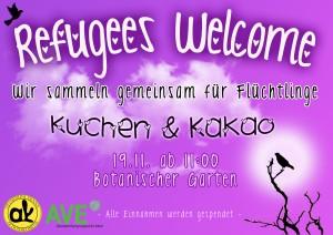 Flüchtlingsstand Plakat_heller